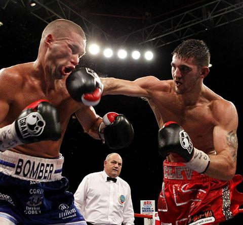 Nathan Cleverly on his way to victory over Tony Bellew in 2011