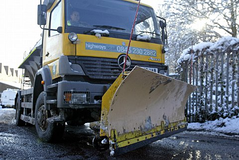 Caerphilly gritters travel 5,000 miles
