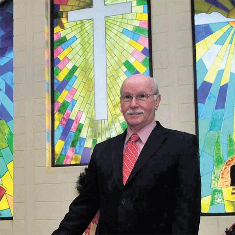 BUCKING THE TREND: The Rev Bob Buchanan says the congregation at his Blaenau Gwent Baptist Church is stable but many people in the area have 'lost God'