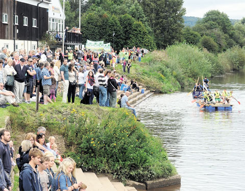 CHARITY BOOST: This year's Monmouth raft race brought out the crowds and raised nearly £20,000