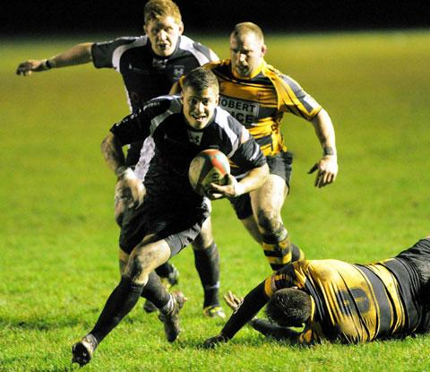 TRY TIME: Dorian Jones jinks over for Cross Keys