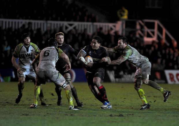 Ospreys win battle of mud as Dragons are ground down