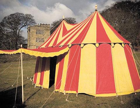 HISTORIC STYLE: One of the tents which could be on offer at Usk Castle