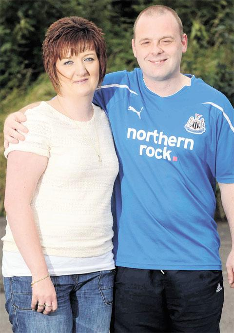 RAISING FUNDS: Sian Evans and Daley Witcombe, parents of baby Seren Olivia, who died aged seven months