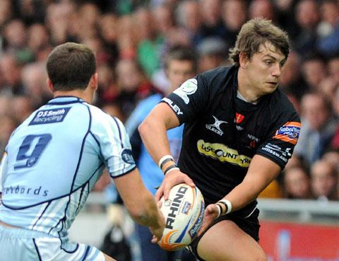 OPPORTUNITY KNOCKS: Dragons fly half Steffan Jones