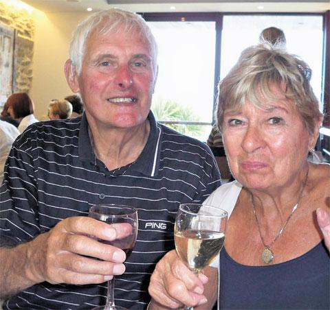 TRIBUTES: Frank Leybourne with his wife, Glennys