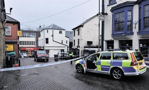 SCENE: Police outside Pontypool market