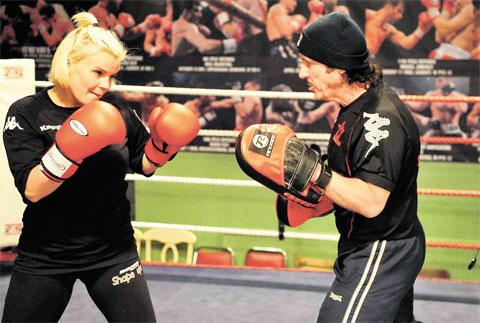 CELEBRITY BOXING: Enzo Calzaghe had a taste of dealing with the stars when Kerry Katona visited his ring last year