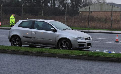 South Wales Argus: Car involved in SDR crash