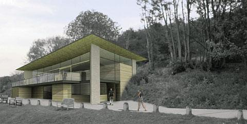 ARTIST'S IMPRESSION: The proposed visitor centre at Llandegfedd Reservoir