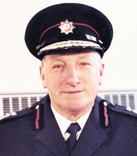 HONOURED BY THE QUEEN: Fred Ponsford, former Avon Fire Chief, has died aged 90