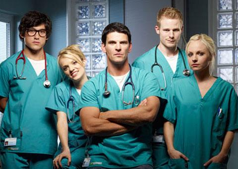 Some of the cast members of BBC's Casualty. An episode of the medical drama was filmed in a Newport house