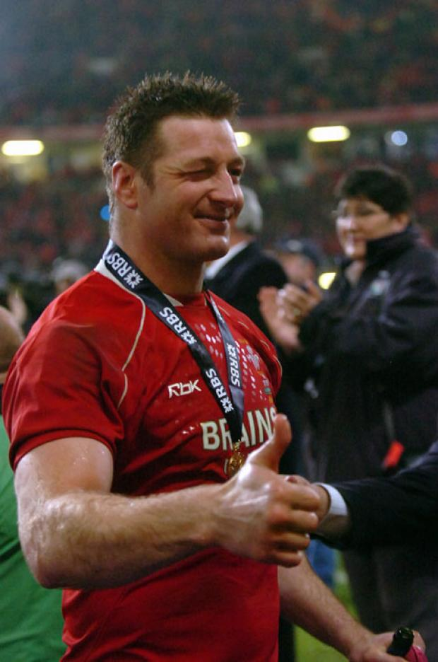 GRAND SLAM WINNER: Ian Gough celebrates in 2008