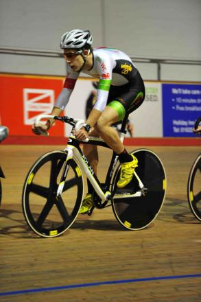 BACK ON TRACK: Newport's Jon Mould is competing  in the UCI Track World Cup in Mexico this week