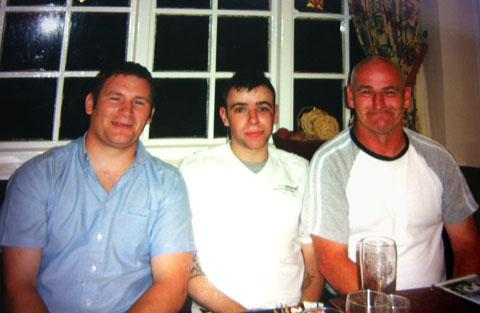 APPEAL: From left; Kyle Vaughan's brother, Karl Sheahan, Kyle Vaughan, and Kyle's father, Alan Vaughan