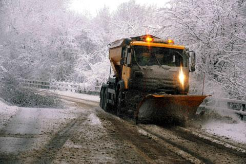 VITAL: One of the gritters out in Monmouthshire this morning