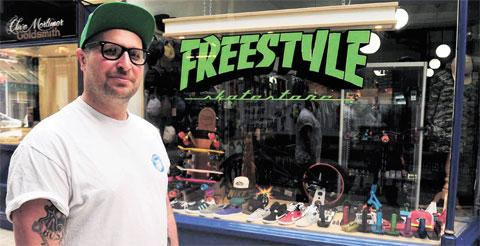 South Wales Argus: 'HIGH STREET TOO EXPENSIVE': Darran Ward of Freestyle skate shop, Newport Arcade