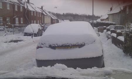 This is what Mikey Weedall's street in Pontypool looked like after the snow.