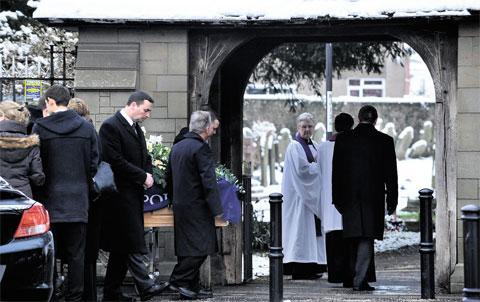 LAST RESPECTS: The funeral of Royce Gardener, who served for 30 years with the police force