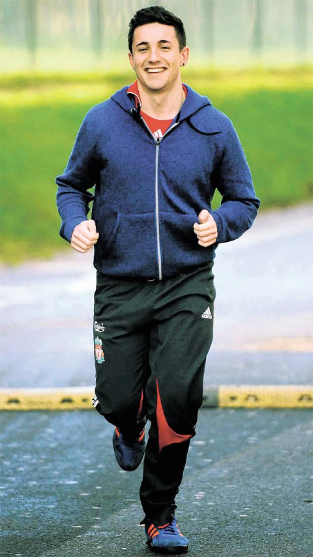 RUNNING UP FUNDS: Kade McConville, who will be running the London Marathon in aid of the charity MIND