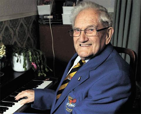 TRIBUTES: Roy Harvey, believed to be the oldest chorister in Wales, has died at the age of 95
