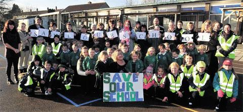 PROTEST: Pupils and parents call for Kemys Fawr Infants School to be saved