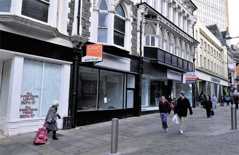 STRUGGLING: Businesses are finding it hard to survive in Newport city centre