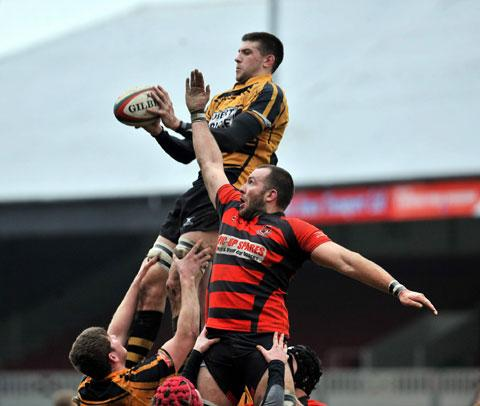 GOOD TAKE: Rhodri Jones and his Newport teammates were head and shoulders above Bonymaen