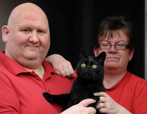 Cat reunited with Llanhilleth family after 3 years