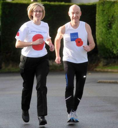 MARATHON EFFORT: Mike Jones and his wife Angela are running the London Marathon in aid of the Poppy Appeal