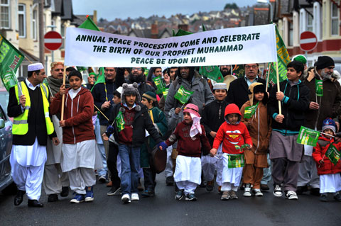 PROCESSION: The annual march in Newport to celebrate birth of the Prophet Muhammad