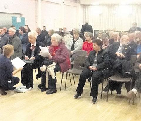 OBJECTIONS: More than 90 people turned up at last night's meeting to discuss proposed Gipsy sites in Newport