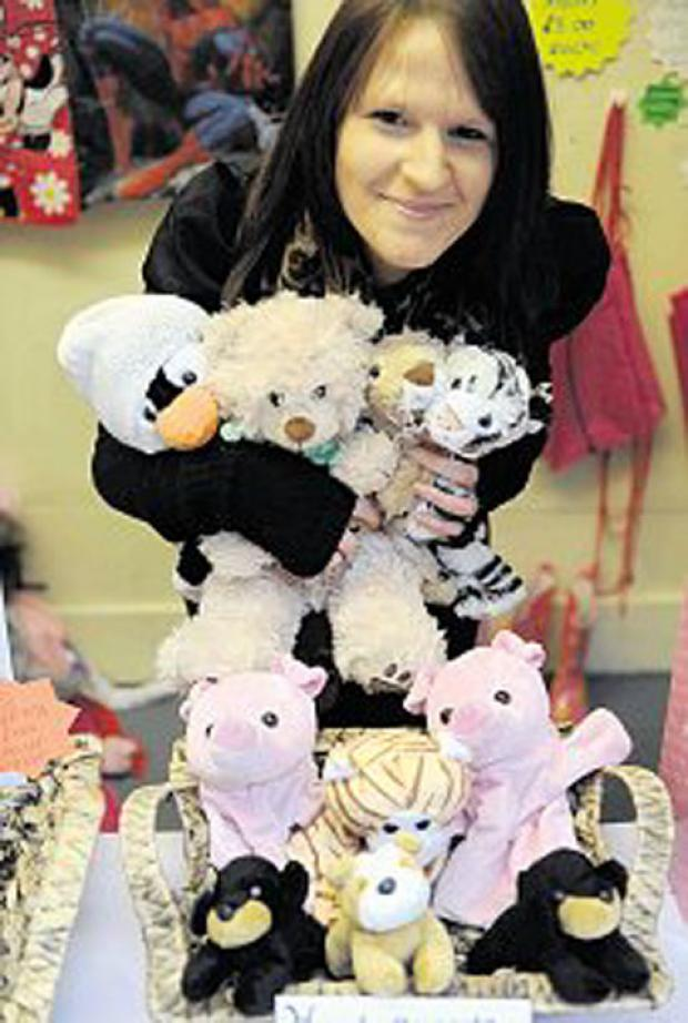 START-UP SUCCESS: Sarah Hillier runs a customised bear stall in Pontypool Market