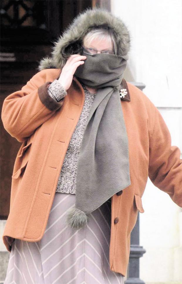 SPARED JAIL: Patricia Morris admitted wounding her sister by smashing a tea cup into her face, causing a gash which needed 35 stitches