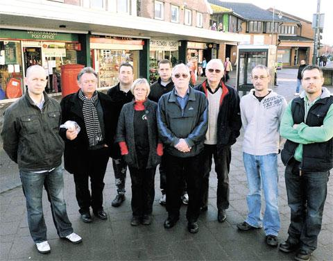FEARFUL: Councillors and traders in Caldicot including, left, Cllr John Marshall