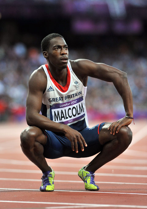 BACKING: Colin Jackson says Christian Malcolm can win a medal at Glasgow 2014