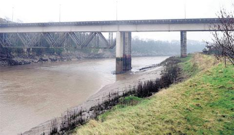 SCENE: The A48 bridge over the River Wye in Chepstow