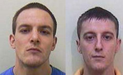 MANHUNT: Liam Ahearne, left and Stephen Rees