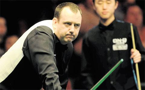 NAPPY NEWS: Mark Williams who has been competing at the Welsh Open in Newport this week is celebrating the birth of his third child