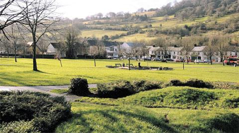 MAKEOVER: Tredegar Park, Risca, also inset below, where work has been done to help it become a hub of the community