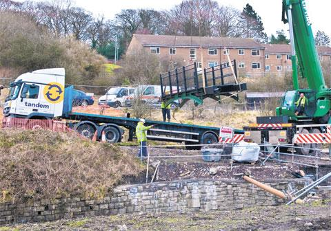 REFURBISHED: The historic iron bridge is put back in place at the Blaenavon World Heritage site