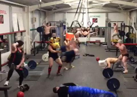 Newport RFC joins Harlem Shake craze