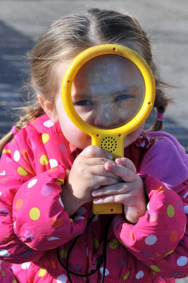 CLOSURE OPPOSED: Seren Goode, 6, at Two Locks Nursery in Cwmbran, which is fighting closure