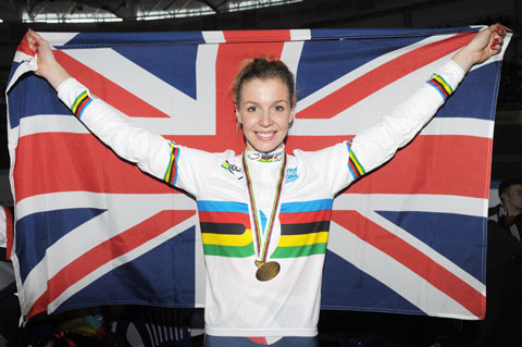 Double world champion cyclist Becky James