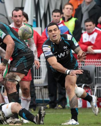 A RARE SUCCESS: Ospreys ace Kahn Fotuali'i is money well spent