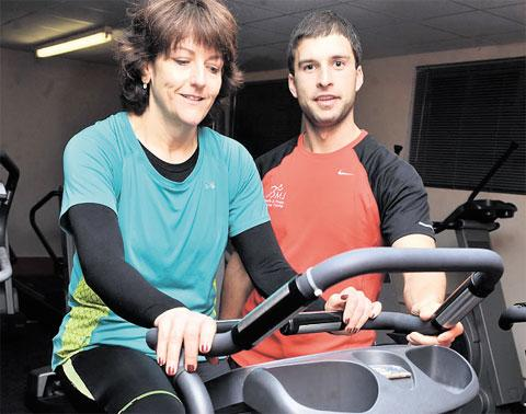 South Wales Argus: FITNESS FIRST: Pam with trainer Michael Jones