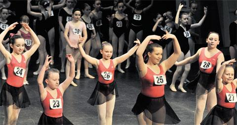 YOUNG HOPEFULS: Keen young Gwent dancers audition for the English Youth Ballet's production of Giselle in the New Theatre, Cardiff