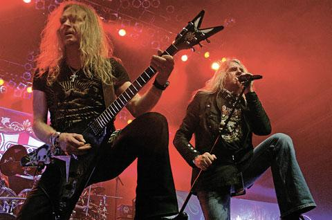 ROCKING IN THE VALLEYS: Saxon will play at the Steelhouse Festival at Cwm, near Ebbw Vale