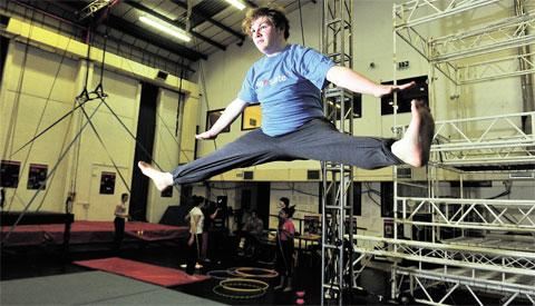 IN THE RING: Oliver Park hopes to run away to join the circus