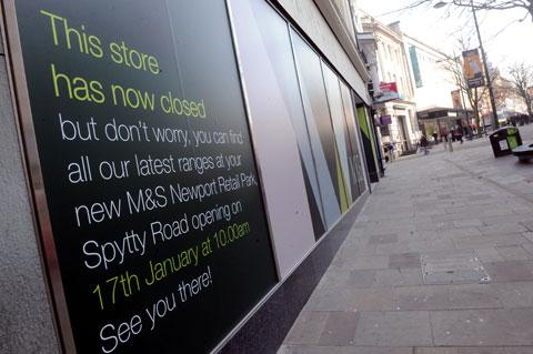 CLOSED: The Marks and Spencer store on Commercial Street in Newport